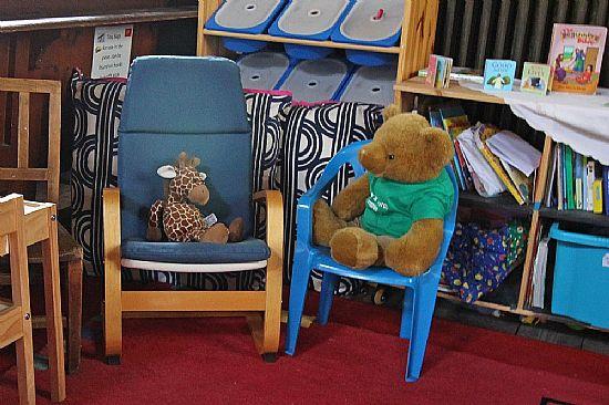 big ted in the children's corner
