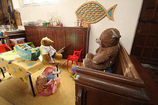 big ted in children's corner