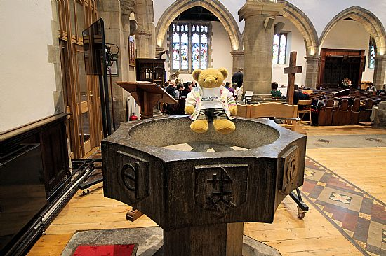 big ted on a font