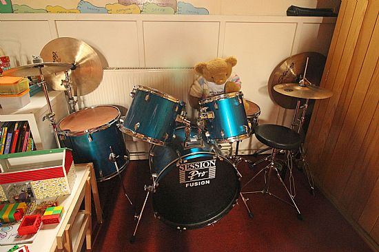 big ted plays the drums!