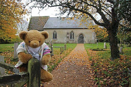 church gatepost
