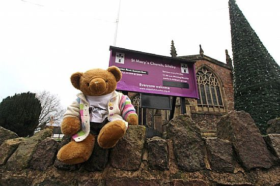 big ted and church notice board
