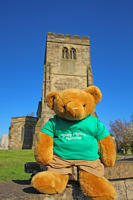 big ted outside plumtree church