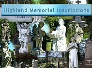 Highland Memorial Inscriptions