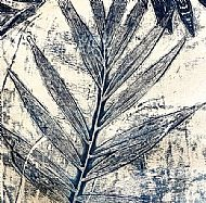 Monoprint parlour palm tree 1/3