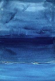 Electric blue wave