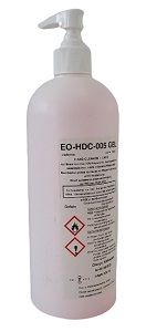 ***BEST SELLER*** - Hand Gel 500 ml - Certified Medical/Surgical Grade - Total Content 90% Alcohol + Glycerin - Product No. EO-HDC-005 - Case of 24 (8.99 + VAT each)