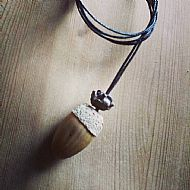 Oak acorn pendant necklace sold
