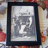 Framed vintage witch print No3