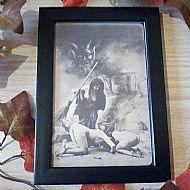 Framed vintage witch print No2