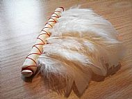 Cowrie Goddess Smudge Comb Fan