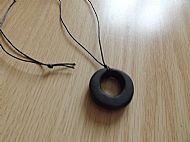 Darkly Hollow Pendant Necklace
