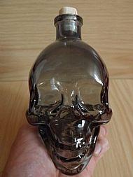 Smoked Glass Skull Bottle