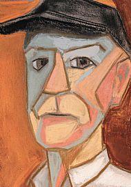 Cubist style self-portrait