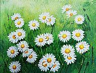 Cathy Reid M Des RCA, Daisies in the Grass