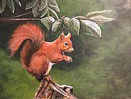 David Turner OBE. Red Squirrel SOLD