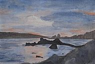 Judith Scurfield Wells, The Sound of Mull Sunset