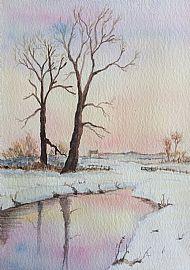 Lesley Adamson, Sunset on Snow SOLD