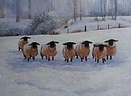 Cathy Reid M Des RCA, Sheep in Winter