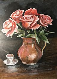 Roses and Inkwell