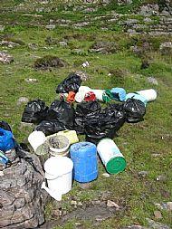 Beach clean bags, the first hour!