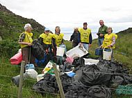 Beach clean at Camus Daraich