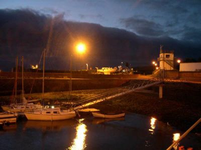 cromarty harbour after new lighting installed. doh