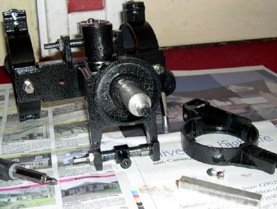 disassembling azimuth axis parts