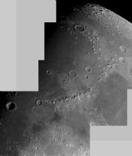Moon Mosaic: Appenines and Mare Imbrium 18/12/07