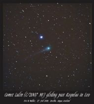 Comet Lulin gliding past Regulus 27/02/09 - Eric Walker