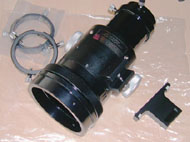 the kit: focuser, finder attachment block, and rings