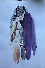 Girl with black turban