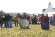 One tonne sack race.
