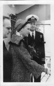 Commander Nash with Prince Ranier and Princess Grace