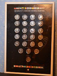 Caltex Italia90 framed coin set