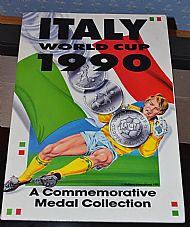 Caltex Italia 90 coin folder set