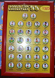 World cup 98 Superstars medallion set