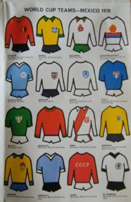 World Cup 1970 kit poster
