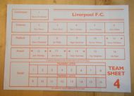 Liverpool team shee