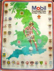Mobil Petrol football club badge cloth stickers