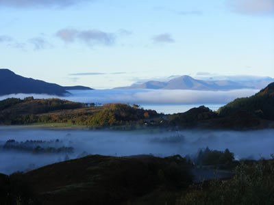 auchtertyre and skye in the mist