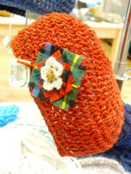 Hand Crochet Brooch Hat