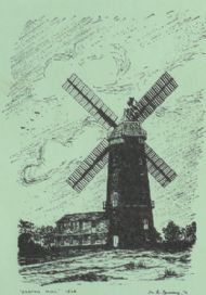 caston windmill - a drawing