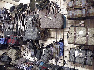 gift shop selling harris tweed & leather goods