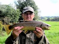 Phil with a lovely Dove trout