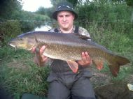 Andy's first barbel 13lb 2oz