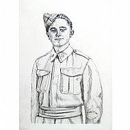 Sketch: WW1 Army Dental Corps Portrait