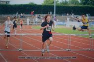 James MacPhail, Under - 17 sprinting to his 2008 Scottish 400m Hurdles title