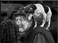 Top Monochrome Image<br>Man's Best Friend