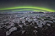 Runner-Up<br>Aurora Over Jokulsarlon